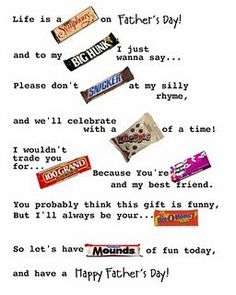 father's day candy poster