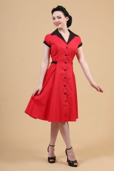 THE RED DINER DRESS BY HEARTBREAKER