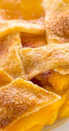 Cinnamon Sugar Peach Pie