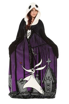 The Nightmare Before Christmas Jack Cozy Throw with Sleeves