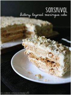Authentic Sansrival (Buttery, layered meringue cake), ,