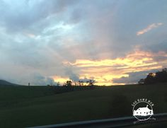 Sunset over I-77 South
