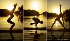 #Surf + #Yoga + Sunset: blissful moment