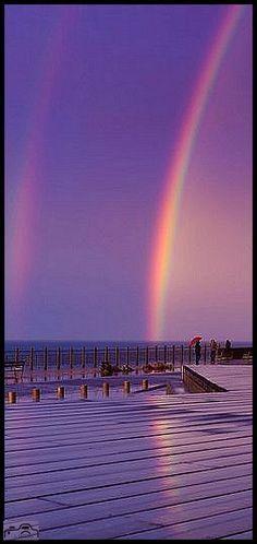 Donostia, Baskenland, Spanien SPAIN #photo by  Iñaki Callejo #purple rainbow sky pier beach beautiful amazing nature