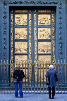 Las puertas que Ghiberti ideó para el Baptisterio de San Juan en Florencia