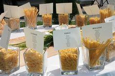 Matrimonio.it | #tableau tema tipi di #pasta