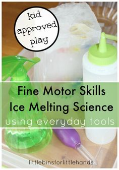 Treasure Hunt With Fine Motor Skills Ice Melting Science from Little Bins for Little Hands