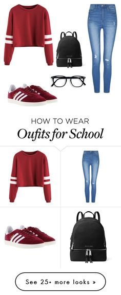 """Outfits for school"" by mercedes9708 on Polyvore featuring adidas and MICHAEL Michael Kors https://twitter.com/gmingsefefmn/status/903139976413495296"