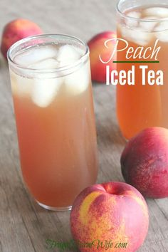 Iced Tea This peach iced tea recipe is super easy, and a delightful way to spruce up traditional tea!This peach iced tea recipe is super easy, and a delightful way to spruce up traditional tea! Fruit Tea, Fruit Drinks, Healthy Drinks, Beverages, Tea Drinks, Mango Iced Tea, Peach Ice Tea, Refreshing Drinks, Summer Drinks