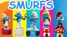 Smurfs Cartoon Finger Family Nursery Rhymes For Children | The Smurfs Fi...