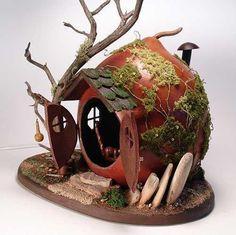 fairy house out of a gourd | fairiehollow.com