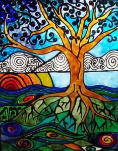 """SunriseTree""   Artist: Lynn Marlow, 2005"