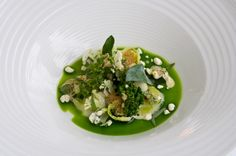 Cod jaws, Five types of cabbage, lumpfish roes & smoked cheese  Restaurant Geranium, CPH (the old place)