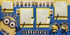minion scrapbook layout   Details about ONE IN A MINION 2 premade scrapbook…