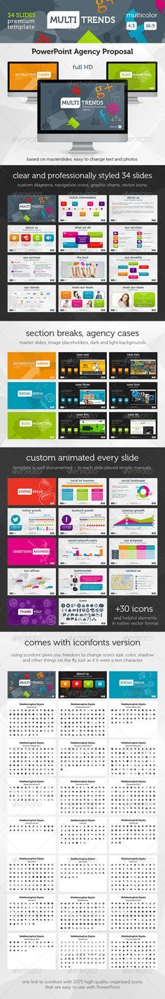Multi Trends PowerPoint Presentation Template - Business Powerpoint Templates