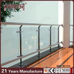 Modern Colorless Glass Balcony Railings