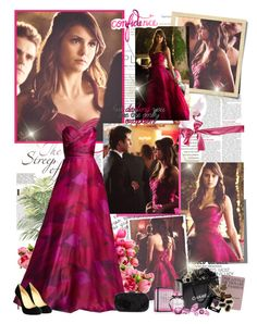 """""""Elena Gilbert- Prom style"""" by mery90 ❤ liked on Polyvore featuring Gwyneth Shoes, PEONY, Reception, Christian Louboutin, Hachette Book Group, Chanel, Anya Hindmarch, Victoria's Secret, women's clothing and women's fashion"""