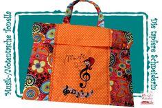 Musik-/ Notentasche TonElla von Die tapfere Schneiderin, handmade with love ... by Viola auf DaWanda.com