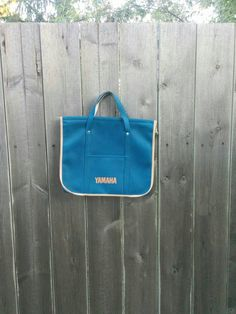 Check out this item in my Etsy shop https://www.etsy.com/listing/457359454/vintage-1970s-blue-yamaha-tote-bag