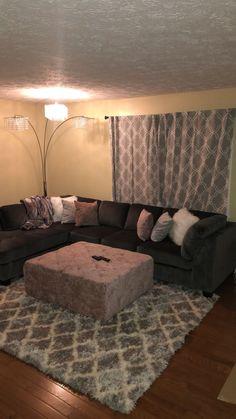 Gray/blush theme apartment living room - ALL ABOUT Living Room Goals, Living Room Decor Cozy, Home Decor Bedroom, Home Living Room, Apartment Living, Living Room Designs, Barn Living, Apartment Layout, Apartment Interior