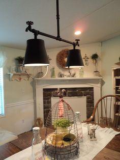 Home lighting ideas diy kitchen lighting fixtures stylish fantastic modern interior ideas with restaurant island full size diy home decor lighting ideas Industrial Light Fixtures, Industrial Lighting, Bucket Light, Pipe Lighting, Lighting Ideas, Farmhouse Lighting, Farmhouse Decor, Country Decor, Farmhouse Style