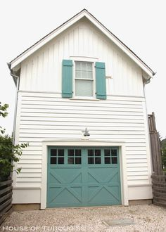 House of Turquoise: Turquoise Tour of Seabrook, Washington.  great color and style of shutters that appear to move