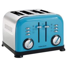 Buy Cyan Blue Morphy Richards Accents Toaster from our Toasters range at John Lewis & Partners. Free Delivery on orders over Cooking Appliances, Small Kitchen Appliances, Cool Kitchens, John Lewis Toaster, Green Toaster, Dualit Toaster, Traditional Kettles, Small Kitchen Storage, Cyan Blue