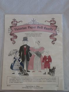 Vintage Victorian Paper Doll Family