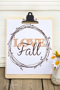 Fall themed Printable Design