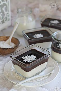 Desserts In A Glass, Dessert In A Jar, Sweet Desserts, Vegan Desserts, Tasty, Yummy Food, Vegan Kitchen, Recipes From Heaven, Winter Food