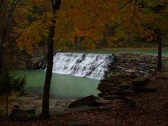 Waterfall in Devil's Den State Park, Ark.