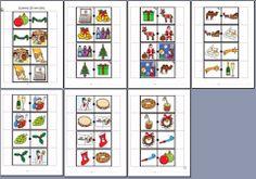MATERIALES - Dominós sobre la Navidad  Dominó encadenado sobre el tema de la Navidad.  http://arasaac.org/materiales.php?id_material=1083