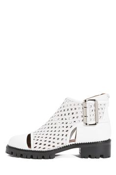 Jeffrey Campbell Shoes FLAMEL-WV Shop All in White Black
