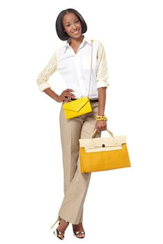 Love this Yellow Work Bag! only $43 at Lulus.com would look great with my signature black! Or as accent to Summery Black and White.