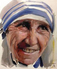 "Daily Paintworks - ""Elle est Teresa"" - Original Fine Art for Sale - © Thomas Ruckstuhl"