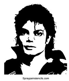 Michael Jackson Crochet Graph / Chart 172 x 150 Michael Jackson Kunst, Michael Jackson Party, Face Stencils, Stencil Art, Stencil Patterns, Michael Jackson Silhouette, Foto Beatles, Dibujos Pin Up, Clipart Black And White