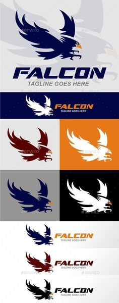 Falcon — Vector EPS #logo #luxury • Available here → https://graphicriver.net/item/falcon-/9222846?ref=pxcr