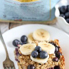 Zapiekana owsianka z bananem - idealnie rozgrzewające śniadanie