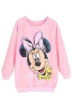 Pink Graphic Sweatshirt