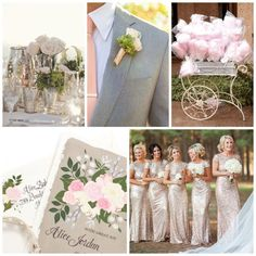 Blush, pink and grey make the perfect color scheme for a spring wedding! Ask us how we can create a custom design just for you today!