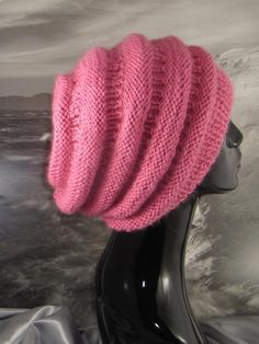 (6) Name: 'Knitting : Chunky Beehive Slouch Hat