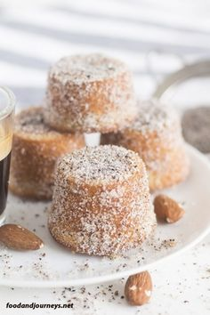 Swedish Almond Cardamom Mini Cakes Try it for your next coffee break dessert or even breakfast Trust me one piece would not be enough Swedish Recipe Dessert Snack S. Beaux Desserts, Mini Desserts, Just Desserts, Delicious Desserts, Mini Cake Recipes, Amazing Dessert Recipes, Small Desserts, Apple Desserts, Health Desserts