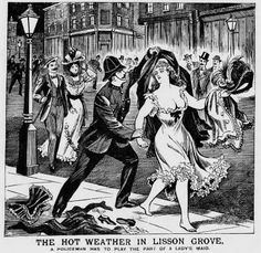 This image appeared on the front page of the Illustrated Police News during a period of hot weather in 1899.