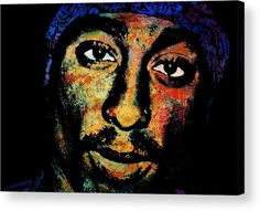 Tupac Amaru Shakur Acrylic Print featuring the painting Tupac by Otis Porritt