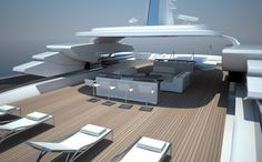 Pool view, Touch 60 yacht project by Newcruise _