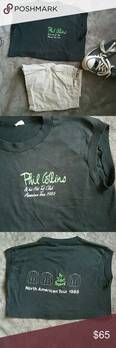 Selling this VTG PHIL COLLINS 1985 Hot Tub Tour Concert Crop T on Poshmark! My username is: goensshopping. #shopmycloset #poshmark #fashion #shopping #style #forsale #Vintage #Tops