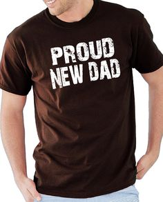 Husband Gift Wedding Gift Proud New DAD Mens T shirt by ebollo