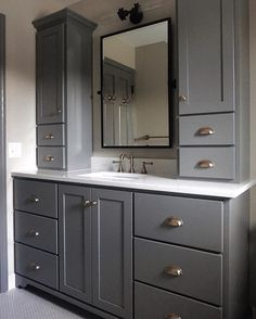 39 Perfect Bathroom Cabinet Remodel Ideas is part of Bathroom cabinets designs Many individuals choose to remodel their bathrooms and change the look of the interiors Before making those changes ma - Diy Bathroom Decor, Bathroom Interior, Modern Bathroom, Bathroom Ideas, Master Bathrooms, Budget Bathroom, Shower Bathroom, Rustic Bathrooms, Shower Ideas