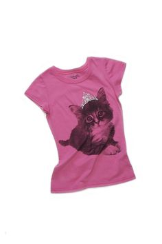 Girls Pink Kitten Graphic Tee (available only in stores) Click image to see weekly ad  #MeijerKidsLooks  #BackToSchool