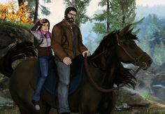 Joel and Ellie - Sunset